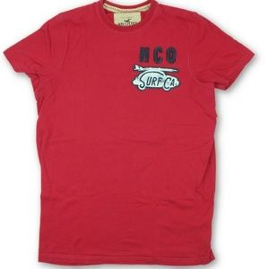 Hollister Red Surfboard VW Bug Embellished T-Shirt